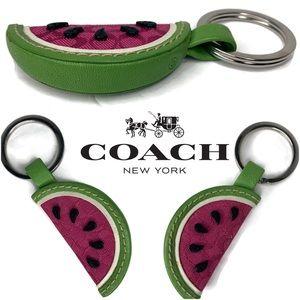 Coach Watermelon 🍉 Keychain Rare Vintage Fob